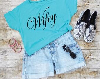 Wifey Shirt. Honeymoon Shirt. Cropped T-Shirt. Wedding Shirt. Wifey Beach Top. Honeymoon Clothes. Honeymoon Gift. Mrs Shirt.