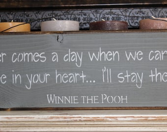 winnie the pooh quote, wooden sign,pooh bear, nursery art