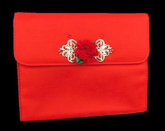 Red evening clutch, red evening bag, teen evening bag, formal clutch, prom purse, red purse, teen purse, date night purse, after 5 purse