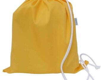 Kids PE Bag, Shoe Bag, Drawstring Bag - Yellow