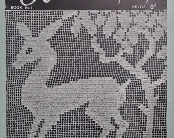 Modern Crochet Vintage 1940s Crochet Patterns by Penelope retro UK book booklet 40s original patterns - crochet necklace bow tie doilies etc