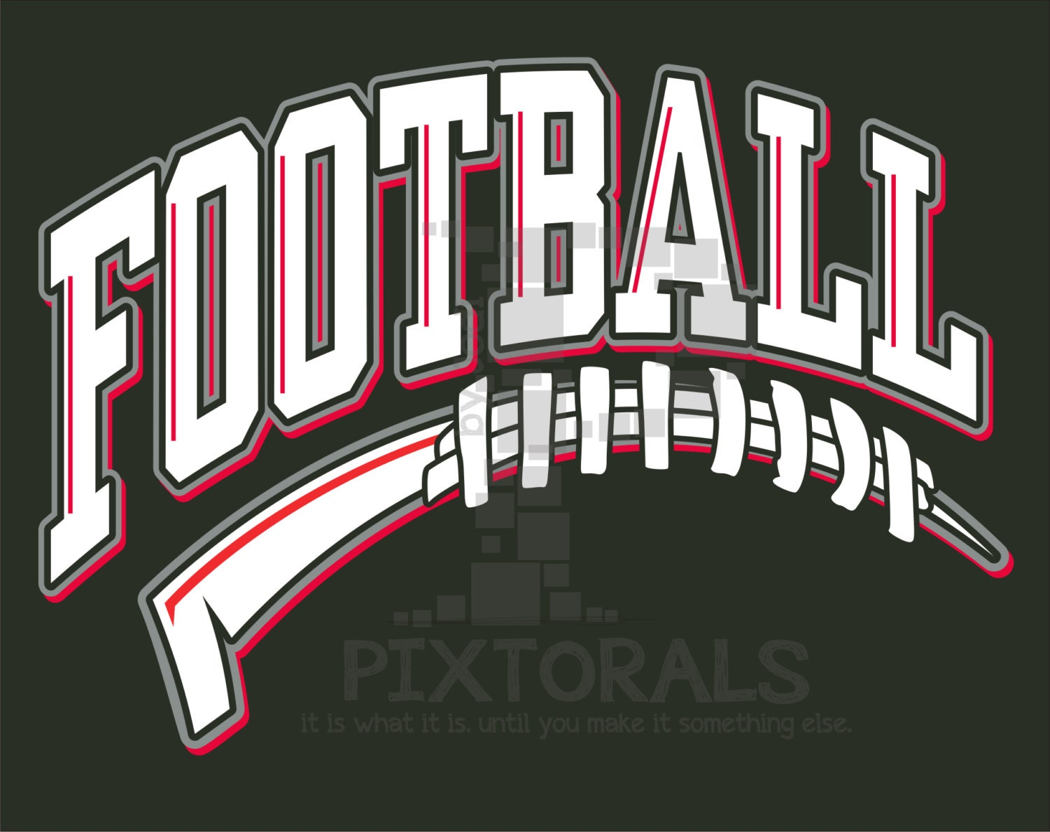 Football Tail Design PNG EPS jpeg T-shirt Graphics