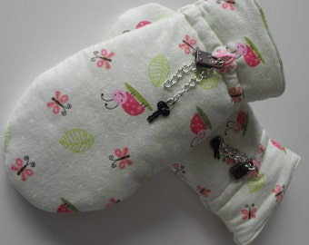 ABDL mittens with Locks, ab mittens, ab flannel mittens, ab lined mittens