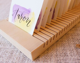 Wood envelope etsy 34 tall card and envelope drying rack wedding card business card reheart Choice Image
