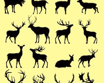 Deer SVG, deer cricut, Antler SVG, horn svg, Moose SVG, Deer Moose Antlers, Silhouette Cut Files, Vector svg, dxf, Clipart Silhouette, Cameo