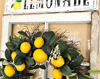 Vintage Fresh Lemonade Sign, Lemons, Lemon Decor