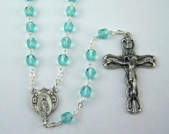 March Birthstone Rosary