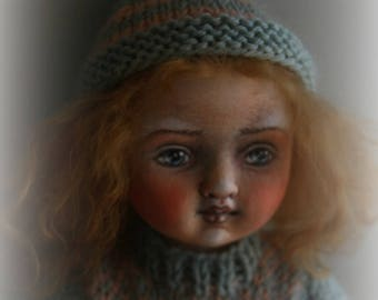 """One-of-a-kind Jointed Cloth Doll """"May"""""""