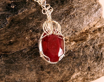 Red Hot Necklace - 80 carats of Ruby