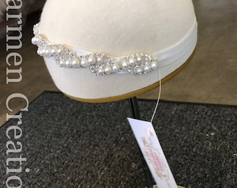 Baby Pearl/Rhinestone Headpiece