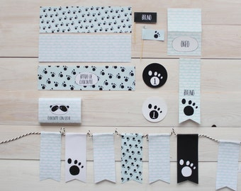 Printable party pack Panda