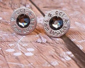 Silver Nights 9mm CCI Bullet Stud Earrings