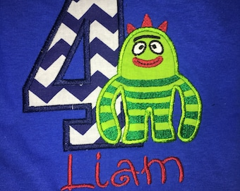 Yo Gabba Gabba birthday shirt, all characters
