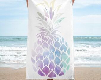Pineapple Towel, Fruit Towel, Summer, Beach Towel, Summer Vacation,  Warm Weather, Towel
