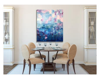 Colorful Art, Abstract Art, Purple, Blue, Abstract Painting, Wall Art Canvas, Modern Painting, Modern Art, soothing, Abstract Canvas Art