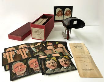 1910 Rare Rainforth Stereoscopic Skin Clinic Disease Stereoview Set