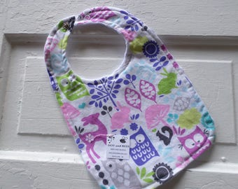Owls and their Friends Baby Bib - FREE SHIPPING!!!