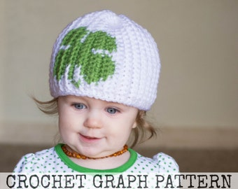 GRAPH - Four Leaf Clover Color Grid for Crochet or Knit Beanies
