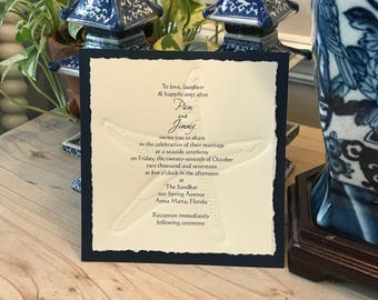 Starfish Invitation for Beach Wedding
