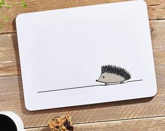 Hedgehog Placemat, Hedgehog Gift, Woodland Animals, Hedgehog Home Decor, Hedgehog Lover Gift, Made in UK