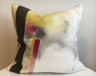 Chloe 1R - Hand Painted / Hand Crafted Accent Cushion Cover
