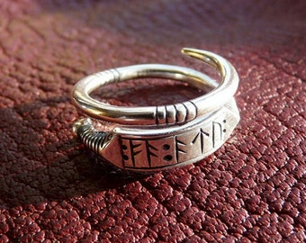 Sterling silver viking runic ring  (second version)