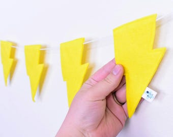 Yellow Lightning Bolt Garland