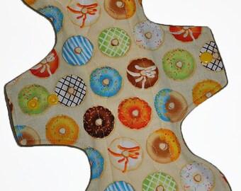Heavy Core- Donuts Reusable Cloth Goddess Pad- WindPro Fleece 12.5 Inches (31.75 cm)