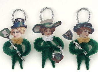 Chenille St. Patrick's Day Ornaments - Handmade St. Patrick's Day Decorations