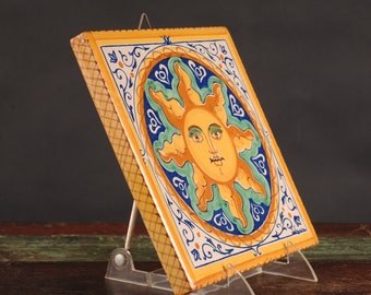 "Italian Sun Tile / Plaque, Signed ""LaGiara"""