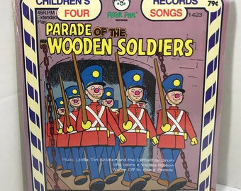 "Parade Of The Wooden Soldiers vintage record SEALED Peter Pan Records 7"" vinyl"