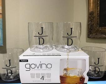 4 Monogrammed Govino Dishwasher Safe