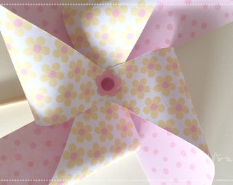 Paper Pinwheels-Mills-Spinwheel-table decoration and favors