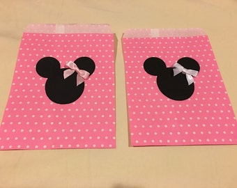 Minnie Mouse Party Favor Bags, Goodie Bags, Candy Bags