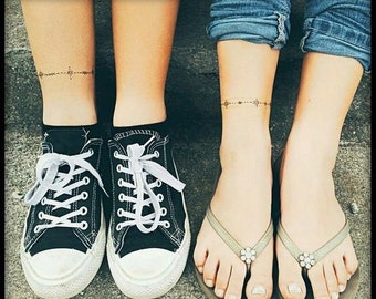 Graphic Bracelet Ankle Wrist Temporary Tattoo -Jewellery Tattoo