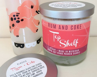 Rum & Coke Soy Candle - Top Shelf Collection - Low Ball Tumbler