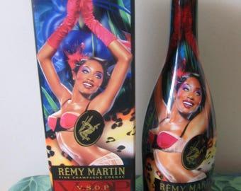 Unique Bottle Remy Martin VSOP Fine Champagne Cognac, Exclusive Limited Edition by David La Chapelle, Empty Bottle and Rare Original Box
