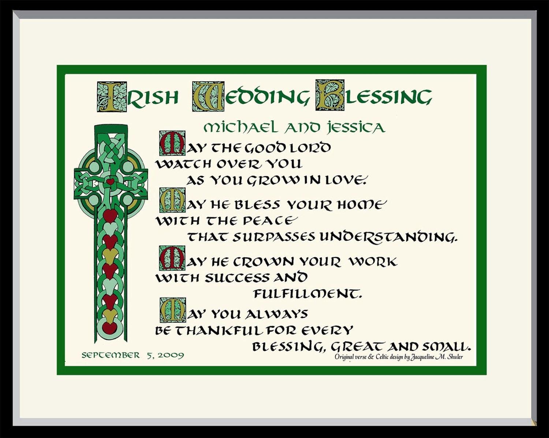Beautiful Irish Wedding Blessing Gifts Frieze - Wedding Dress ...