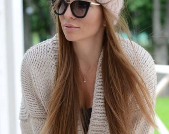 Angora knitted beanie Fur pompom hat Christmas gift for her Knit hat Womens knitted hat Winter hat Girlfriend gift for womens Pastel colors