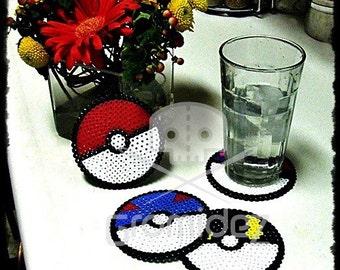 Poke Ball Coasters
