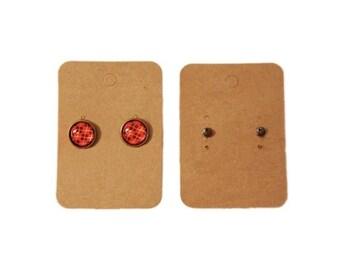 Lot 10 blank kraft blank square earrings