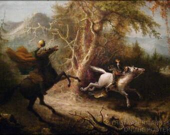 Poster, Many Sizes Available; Legend Of Sleepy Hollow Headless Horseman Pursuing Ichabod Crane (1858) By John Quidor Legend Of Sleepy Hollow