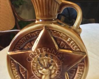 1963 Jim Beam Centennial Benevolent Protective Order of Elks liquor bottle.