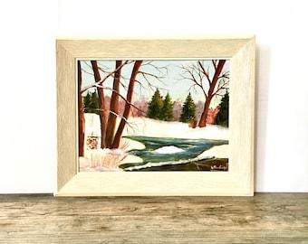 Vintage Landscape Oil Painting / Framed Painting
