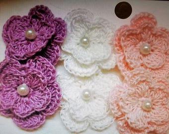 Handmade Crochet Flowers/Appliques
