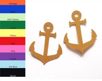 25 pack - Paper Nautical Anchor Shape, Anchor Die Cut, Anchor Cut Out, Birthday Supplies, Party Supplies