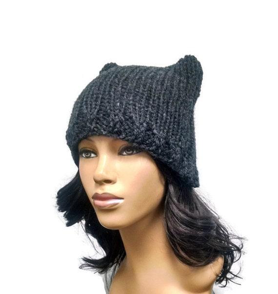 Instant Download Loom Knitting Pattern Easy Cat Hat Cat Ears