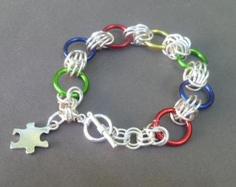 Autism Awareness Bracelet - Asperger awareness Bracelet- Autism Jewelry