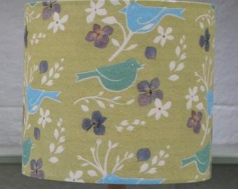 Summer birds silk lampshade