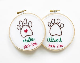 Personalized Dog Ornament, Memorial Ornament, Pet Loss Ornament, Pet Remembrance, Dog Ornament, Paw Print Ornament, Pet Ornament, Pet Gift